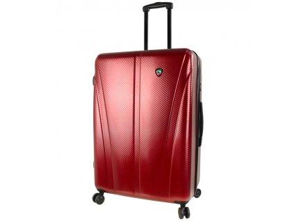 Cestovní kufr MIA TORO M1238/3-L - vínová  + LED svítilna
