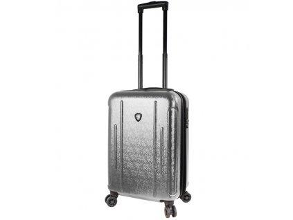 Kabinové zavazadlo MIA TORO M1239/3-S - stříbrná  + LED svítilna