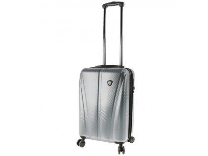 Kabinové zavazadlo MIA TORO M1238/3-S - stříbrná  + LED svítilna