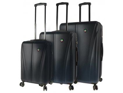 Sada cestovních kufrů MIA TORO M1238/3 - černá  + LED svítilna