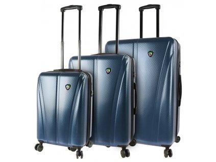 Sada cestovních kufrů MIA TORO M1238/3 - modrá  + LED svítilna