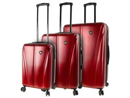 Sada cestovních kufrů MIA TORO M1238/3 - vínová  + Sluchátka, myš nebo pouzdro
