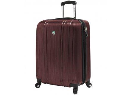 Kabinové zavazadlo MIA TORO M1093/3-S - vínová  + LED svítilna