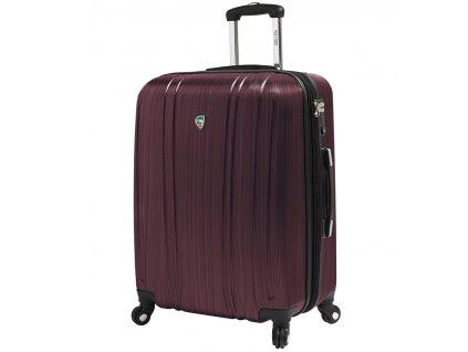 Cestovní kufr MIA TORO M1093/3-L - vínová  + LED svítilna