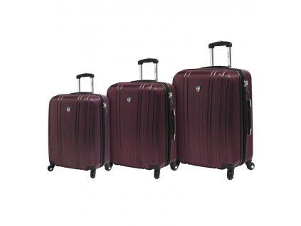 Sada cestovních kufrů MIA TORO M1093/3 - vínová  + LED svítilna