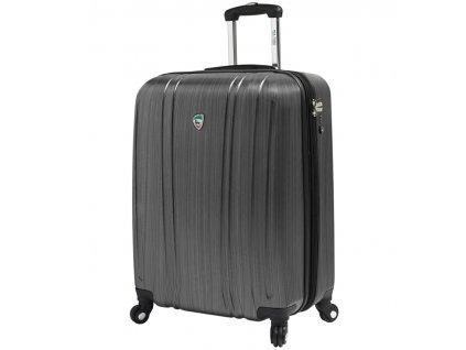 Kabinové zavazadlo MIA TORO M1093/3-S - stříbrná  + LED svítilna