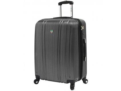 Cestovní kufr MIA TORO M1093/3-M - stříbrná  + LED svítilna