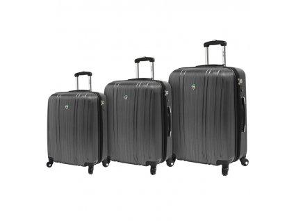 Sada cestovních kufrů MIA TORO M1093/3 - stříbrná  + LED svítilna