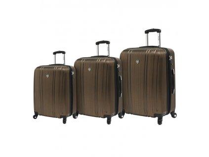 Sada cestovních kufrů MIA TORO M1093/3 - zlatá  + LED svítilna