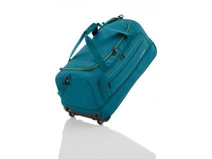 Travelite Basics Wheelbag foldable in bag Petrol