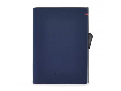 PACSAFE peneženka RFIDsafe TEC SLIDER WALLET navy/ red