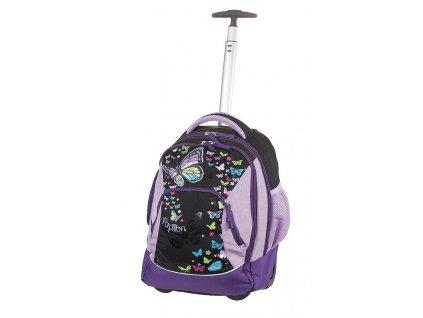 Batoh na kolečkách TROLLEY Papillon  + LED svítilna