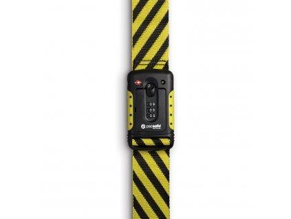 PACSAFE popruh STRAPSAFE 100 yellow/ black