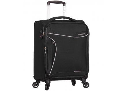 Kabinové zavazadlo SIROCCO T-1201/3-S - černá  + LED svítilna