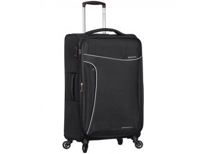 Cestovní kufr SIROCCO T-1201/3-M - černá  + LED svítilna