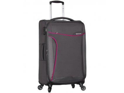Cestovní kufr SIROCCO T-1201/3-M - šedá  + LED svítilna