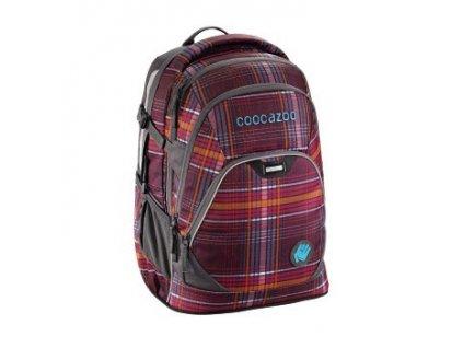 Školní batoh Coocazoo EvverClevver2, Walk The Line Purple  + 5 % sleva po registraci + LED svítilna