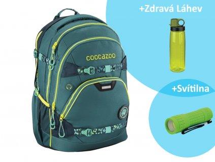 Školní batoh Coocazoo e ScaleRale TecCheck s elektronicky nastavitelným bederním popruhen, Petrol