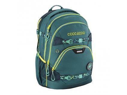 Školní batoh Coocazoo e-ScaleRale TecCheck s elektronicky nastavitelným bederním popruhen, Petrol  + LED svítilna