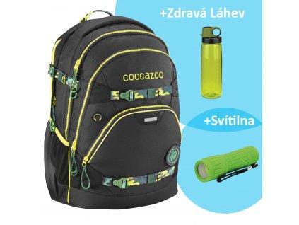 Školní batoh Coocazoo e ScaleRale TecCheck s elektronicky nastavitelným bederním popruhen, Black