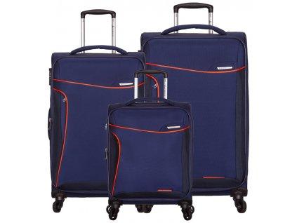 Sada cestovních kufrů SIROCCO T-1201/3 - modrá  + LED svítilna