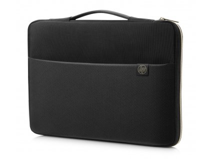 129431 hp 15 6 carry sleeve black gold