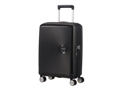 American Tourister SOUNDBOX S 55/20 TSA EXP - BASS BLACK  + LED svítilna