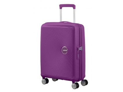 American Tourister SOUNDBOX S 55/20 TSA EXP - PURPLE ORCHID  + LED svítilna