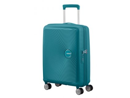 American Tourister SOUNDBOX S 55/20 TSA EXP - JADE GREEN  + LED svítilna
