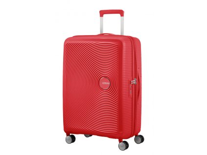 American Tourister SOUNDBOX M 67/24 TSA EXP - CORAL RED  + LED svítilna