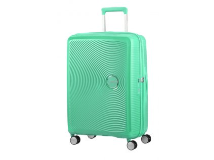 American Tourister SOUNDBOX M 67/24 TSA EXP - DEEP MINT  + LED svítilna