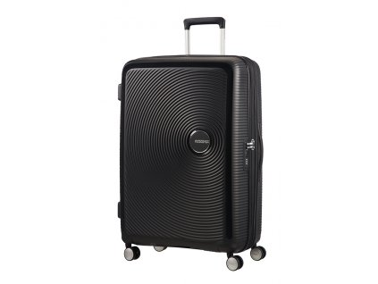 American Tourister SOUNDBOX L 77/28 TSA EXP - BASS BLACK  + LED svítilna
