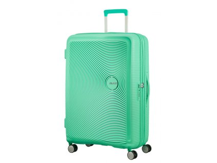 American Tourister SOUNDBOX L 77/28 TSA EXP - DEEP MINT  + LED svítilna