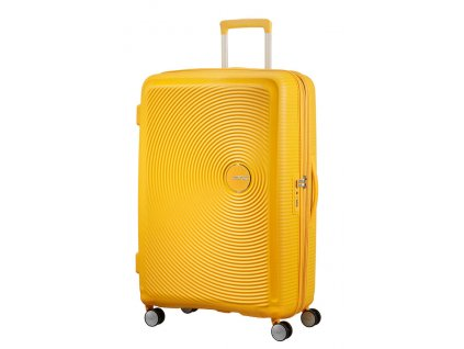 American Tourister SOUNDBOX L 77/28 TSA EXP - GOLDEN YELLOW  + LED svítilna
