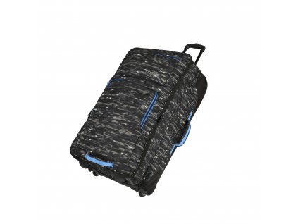 Travelite Basics Doubledecker Black print  + LED svítilna