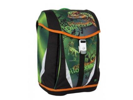 Bagmaster POLO 6 B GREEN ORANGE Klučičí školní aktovka s dinosaurem + LED  svítilna fe40456a1d