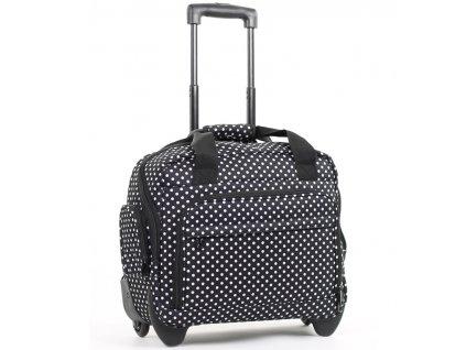 Kufr příruční na notebook MEMBER'S CM-0034 - černá/bílá  + LED svítilna