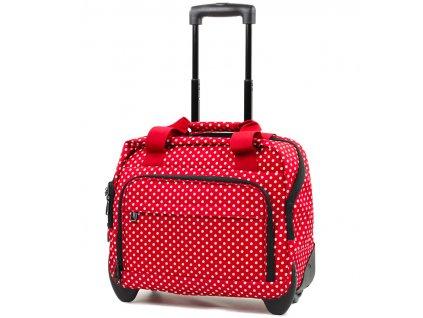 Kufr příruční na notebook MEMBER'S CM-0034 - červená/bílá  + LED svítilna