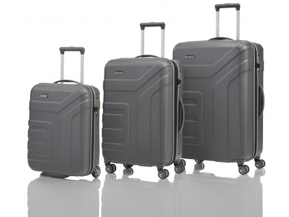 Travelite Vector 2w S, 4w M,L Anthracite – sada 3 kufrů  + LED svítilna