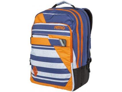 NITRO batoh LOCK heather stripe  + Sluchátka, myš nebo pouzdro