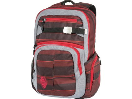 NITRO batoh HERO red stripes  + LED svítilna