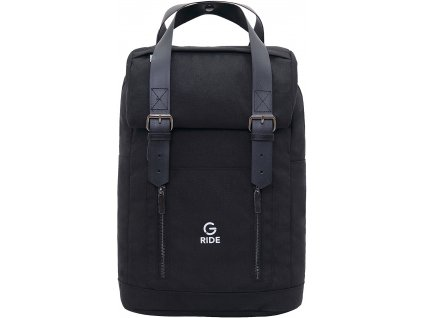 G.RIDE batoh ARTHUR 17L black essential line  + LED svítilna