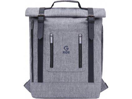 G.RIDE batoh BALTHAZAR grey  + LED svítilna