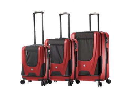 Sada cestovních kufrů MIA TORO M1325/3 - červená  + LED svítilna