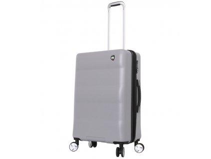 Cestovní kufr MIA TORO M1703/3-M - stříbrná  + LED svítilna