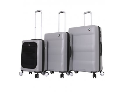 Sada cestovních kufrů MIA TORO M1703/3 - stříbrná  + LED svítilna
