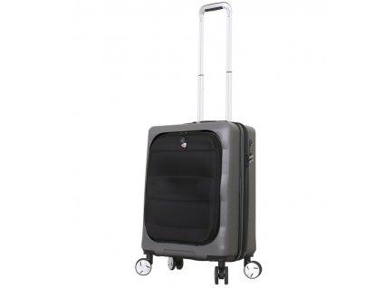 Cestovní kufr MIA TORO M1703/3-S - charcoal  + LED svítilna