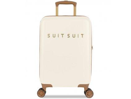 Kabinové zavazadlo SUITSUIT® TR-7104/3-S - Fab Seventies Antique White  + LED svítilna