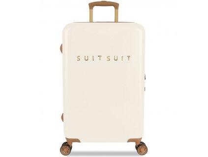 Cestovní kufr SUITSUIT® TR-7104/3-M - Fab Seventies Antique White  + LED svítilna