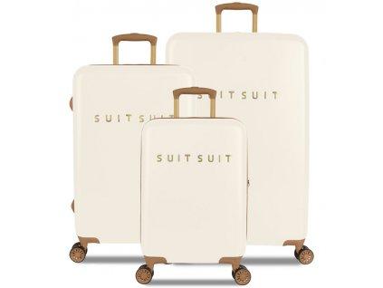 Sada cestovních kufrů SUITSUIT® TR-7104/3 - Fab Seventies Antique White  + LED svítilna
